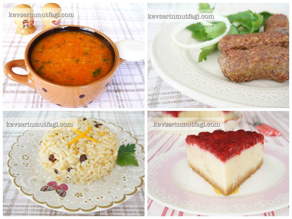 yemek menüsü | Kevser'in Mutfağı
